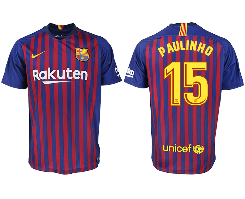 Men 2018-2019 club Barcelona home aaa version 15 blue soccer jersey
