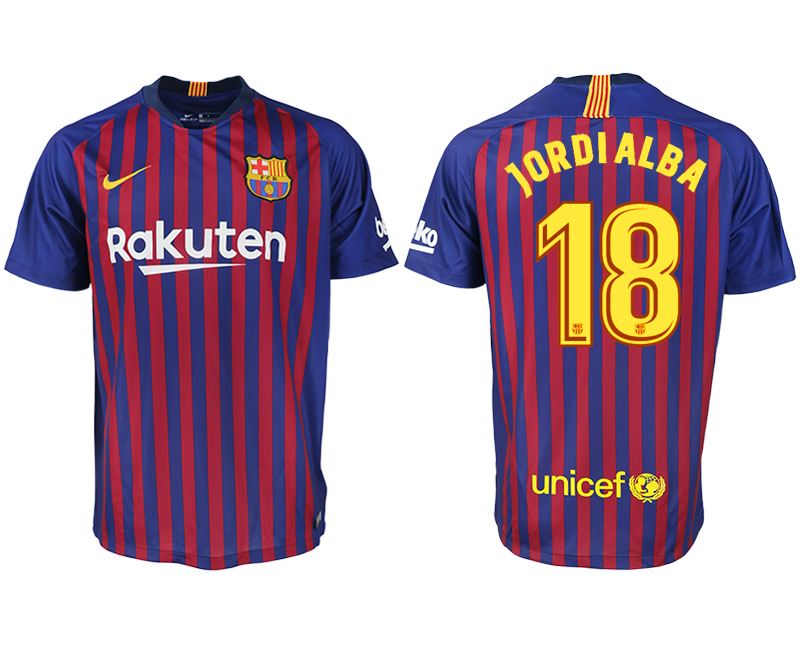 Men 2018-2019 club Barcelona home aaa version 18 blue soccer jersey