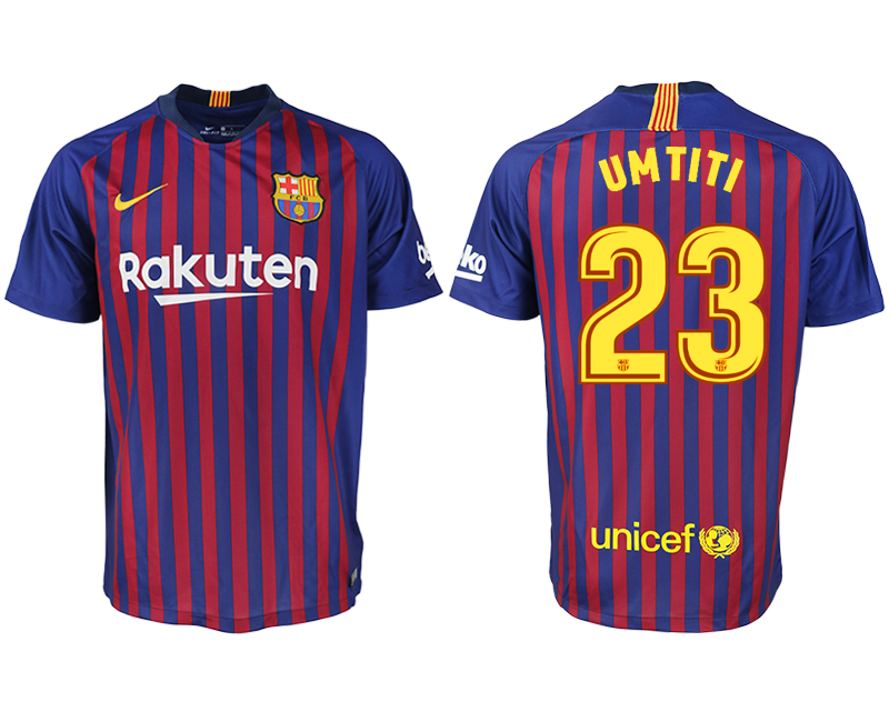 Men 2018-2019 club Barcelona home aaa version 23 blue soccer jersey