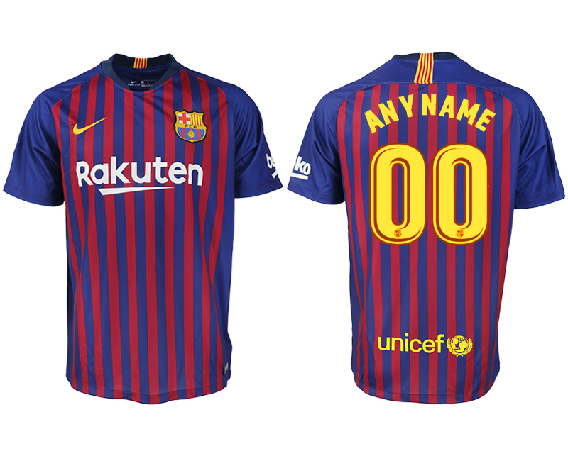 Men 2018-2019 club Barcelona home aaa version customized blue soccer jersey