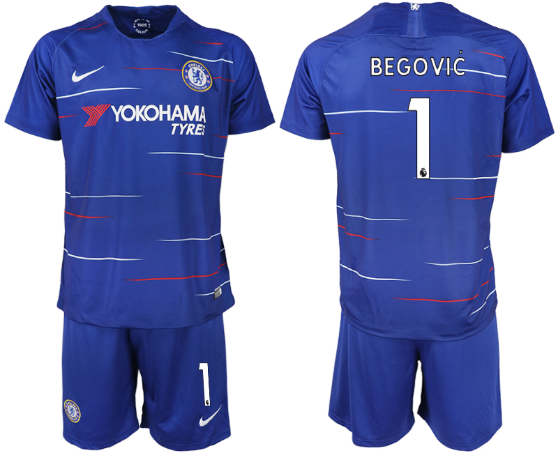 Men 2018-2019 club Chelsea FC home 1 blue soccer jerseys