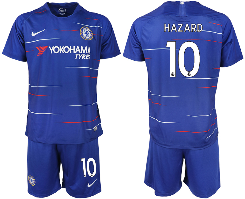 Men 2018-2019 club Chelsea FC home 10 blue soccer jerseys