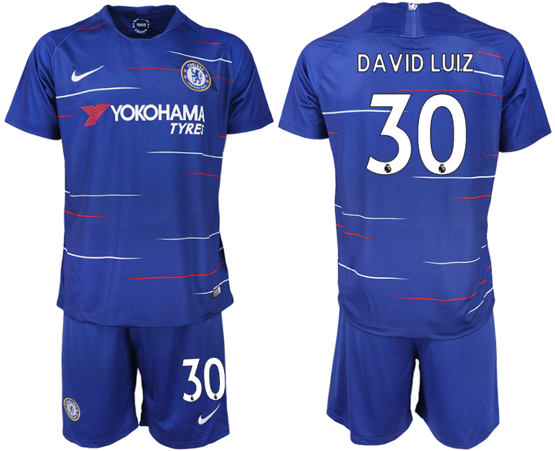 Men 2018-2019 club Chelsea FC home 30 blue soccer jerseys