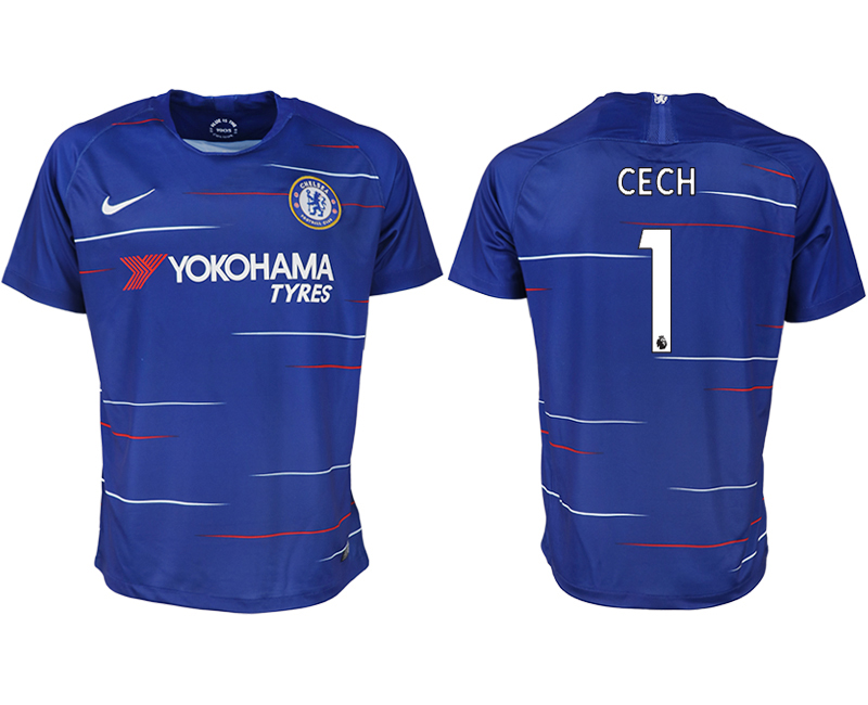 Men 2018-2019 club Chelsea FC home aaa version 1 blue soccer jersey1