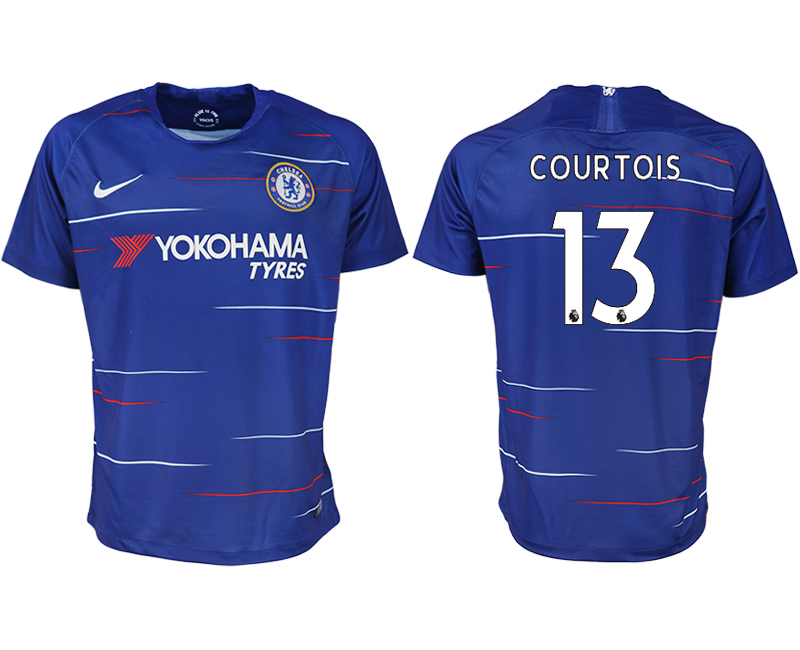 Men 2018-2019 club Chelsea FC home aaa version 13 blue soccer jersey