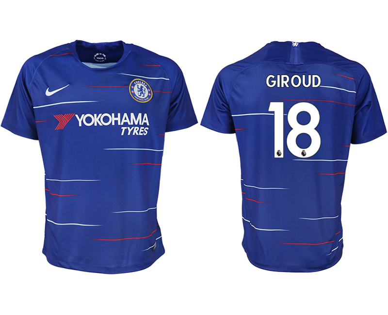 Men 2018-2019 club Chelsea FC home aaa version 18 blue soccer jersey
