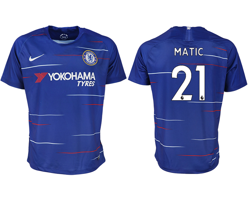 Men 2018-2019 club Chelsea FC home aaa version 21 blue soccer jersey