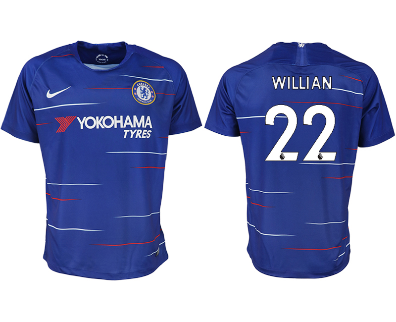 Men 2018-2019 club Chelsea FC home aaa version 22 blue soccer jersey