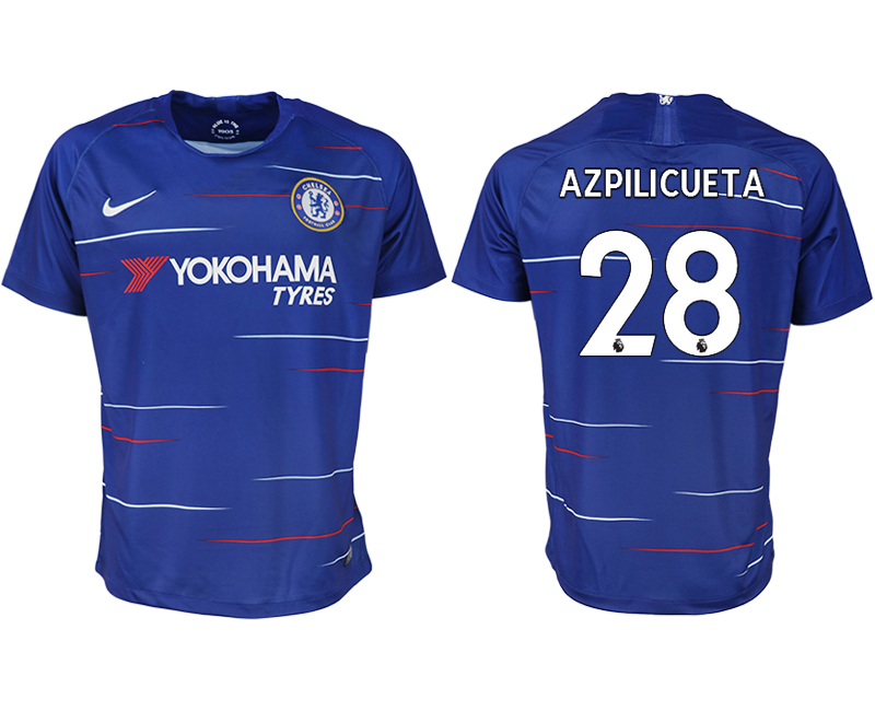 Men 2018-2019 club Chelsea FC home aaa version 28 blue soccer jersey