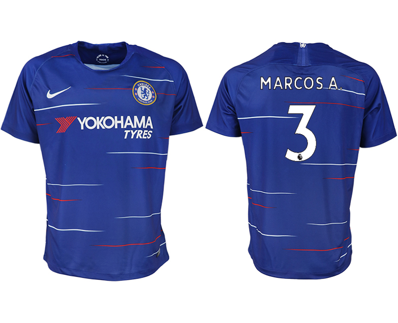 Men 2018-2019 club Chelsea FC home aaa version 3 blue soccer jersey