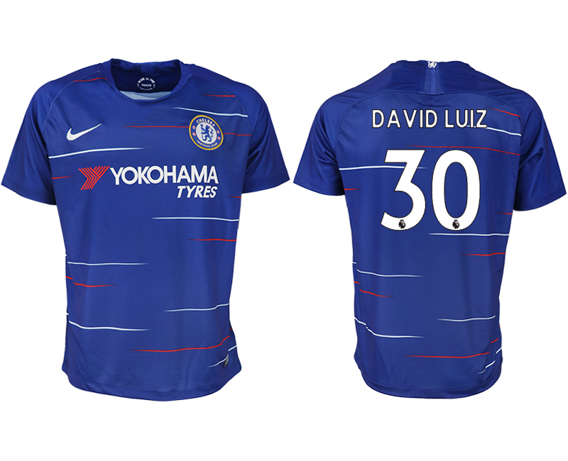 Men 2018-2019 club Chelsea FC home aaa version 30 blue soccer jersey