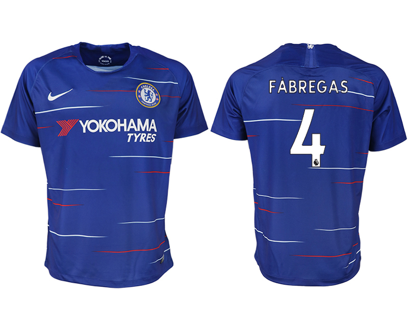 Men 2018-2019 club Chelsea FC home aaa version 4 blue soccer jersey