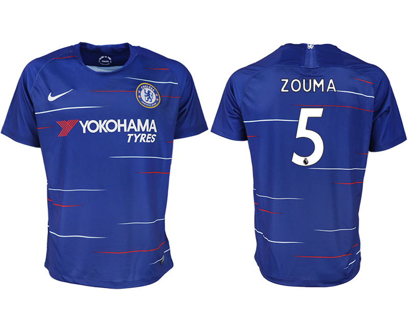 Men 2018-2019 club Chelsea FC home aaa version 5 blue soccer jersey