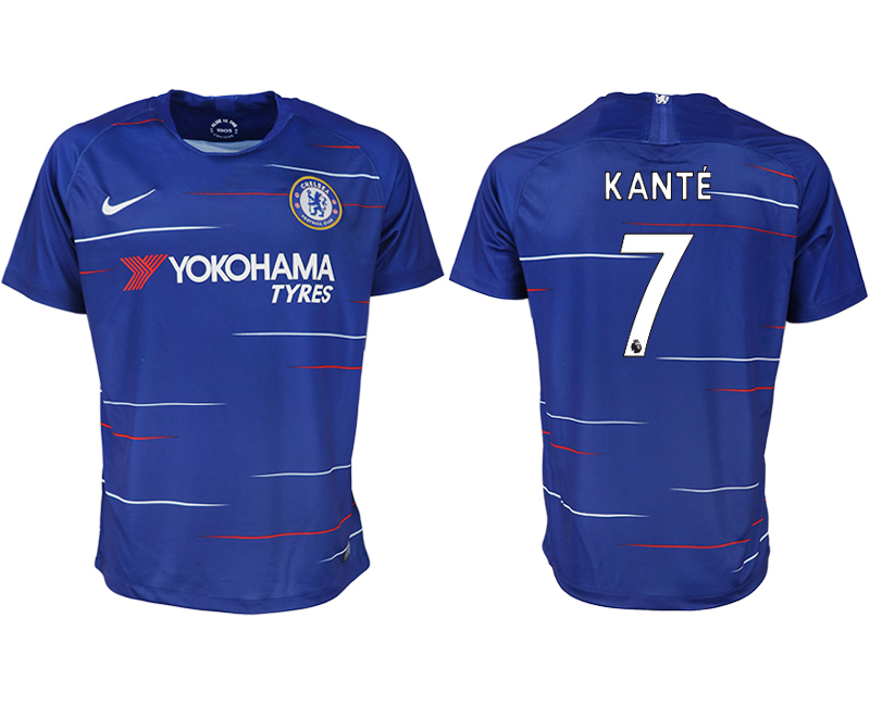 Men 2018-2019 club Chelsea FC home aaa version 7 blue soccer jersey