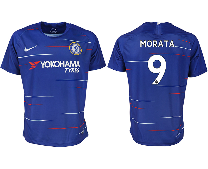 Men 2018-2019 club Chelsea FC home aaa version 9 blue soccer jersey