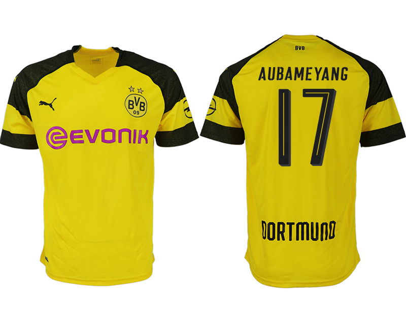 Men 2018-2019 club Dortmund home aaa version 17 yellow soccer jerseys