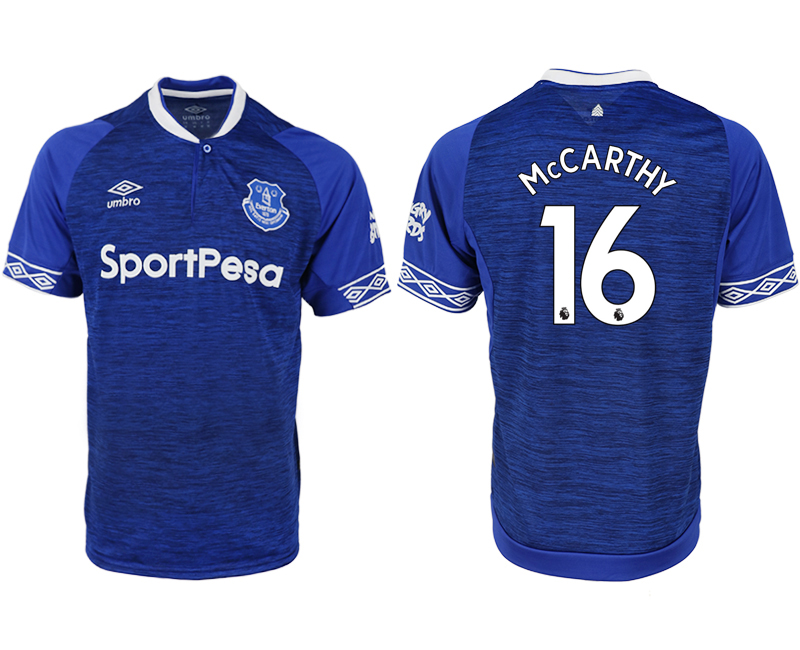 Men 2018-2019 club Everton FC home aaa versio 16 blue soccer jersey