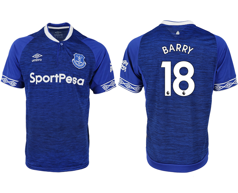 Men 2018-2019 club Everton FC home aaa versio 18 blue soccer jersey