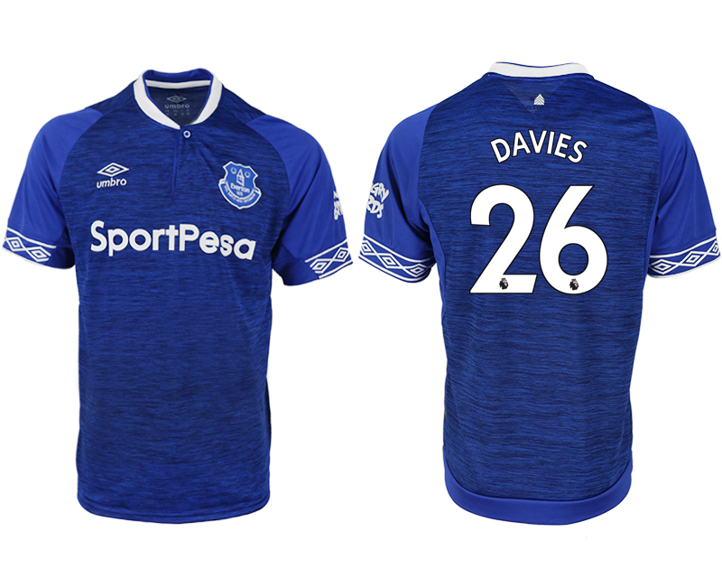 Men 2018-2019 club Everton FC home aaa versio 26 blue soccer jersey