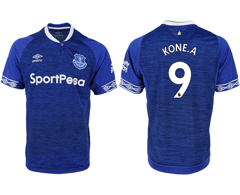 Men 2018-2019 club Everton FC home aaa versio 9 blue soccer jersey