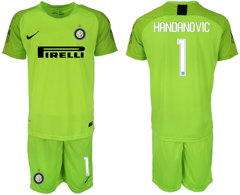 Men 2018-2019 club Inter milan fluorescent green goalkeeper 1 soccer jersey 1