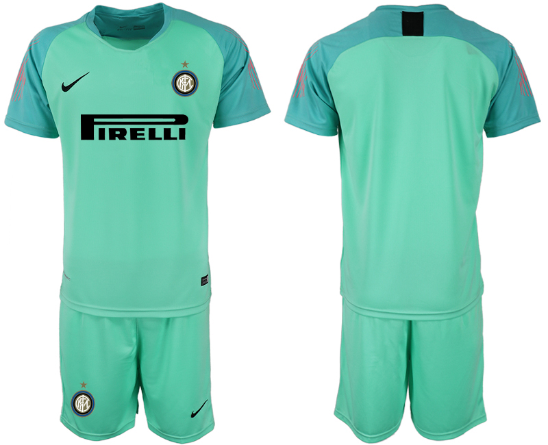 Men 2018-2019 club Inter milan fluorescent green goalkeeper soccer jersey