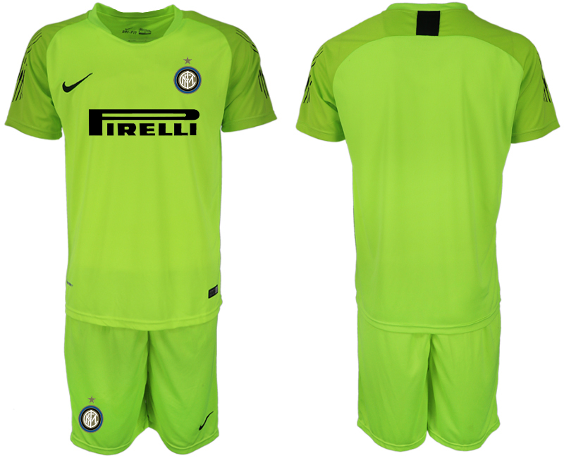 Men 2018-2019 club Inter milan fluorescent green goalkeeper soccer jersey1