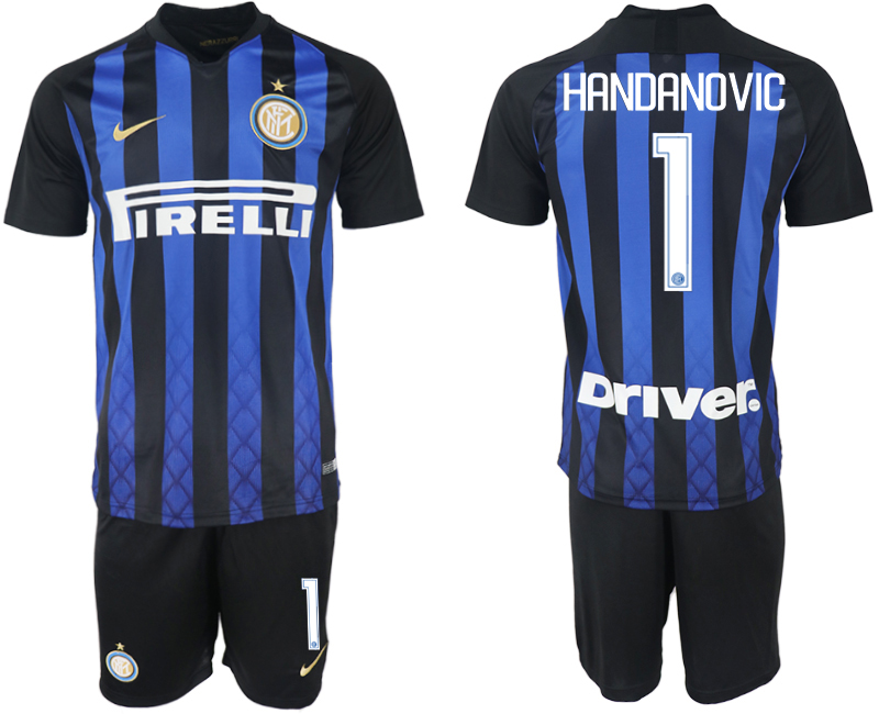 Men 2018-2019 club Inter milan home 1 blue soccer jersey