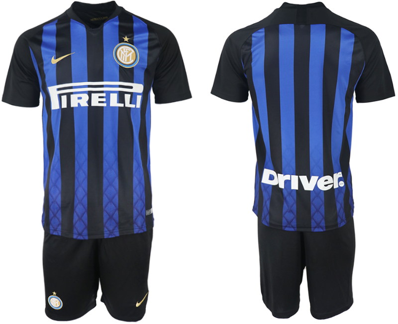 Men 2018-2019 club Inter milan home blank blue soccer jersey