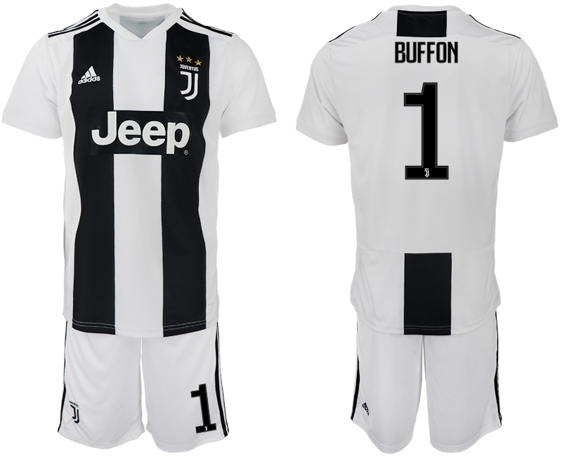Men 2018-2019 club Juventus FC home 1 white soccer jersey