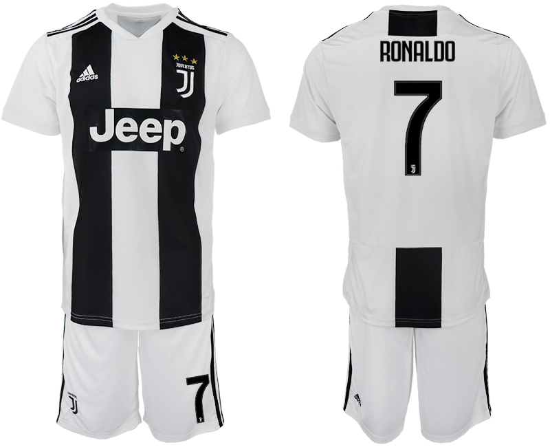 Men 2018-2019 club Juventus FC home 7 white soccer jersey