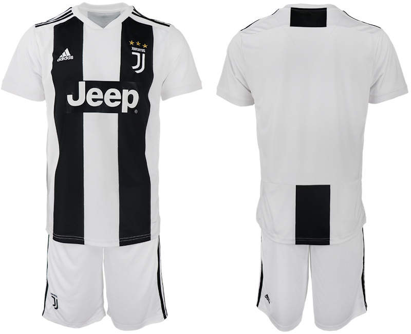 Men 2018-2019 club Juventus FC home blank white soccer jerseys