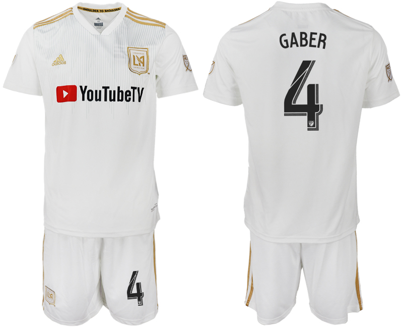 Men 2018-2019 club Los Angeles FC away 4 white soccer jersey