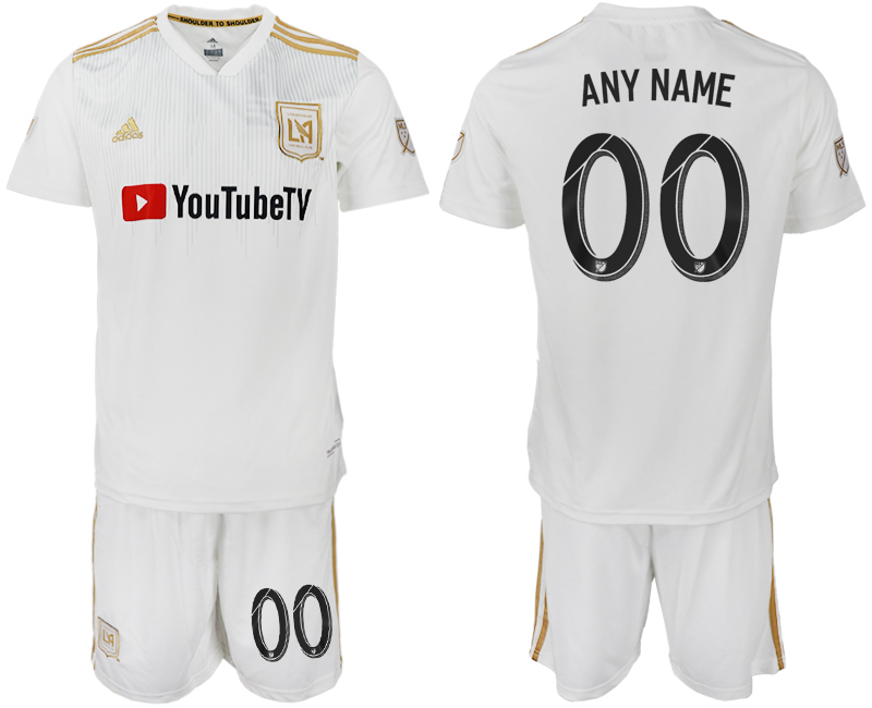 Men 2018-2019 club Los Angeles FC away customized white soccer jersey