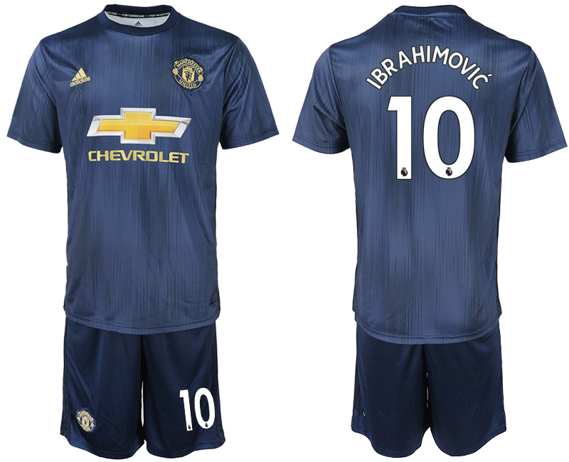 Men 2018-2019 club Manchester united away 10 navy blue soccer jersey