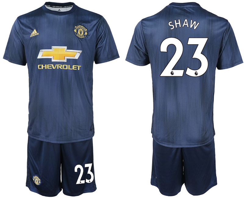 Men 2018-2019 club Manchester united away 23 navy blue soccer jersey