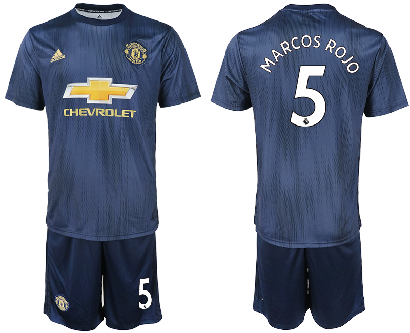 Men 2018-2019 club Manchester united away 5 navy blue soccer jersey