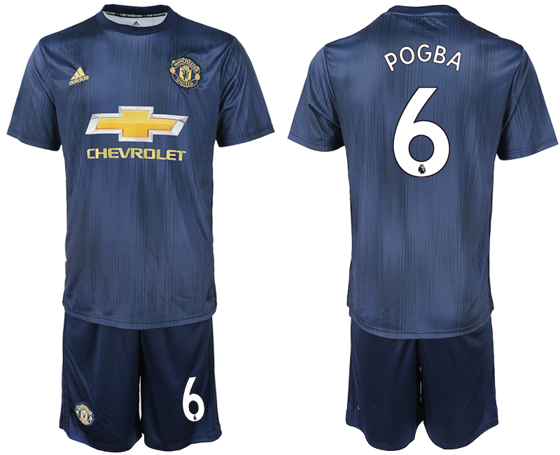Men 2018-2019 club Manchester united away 6 navy blue soccer jersey