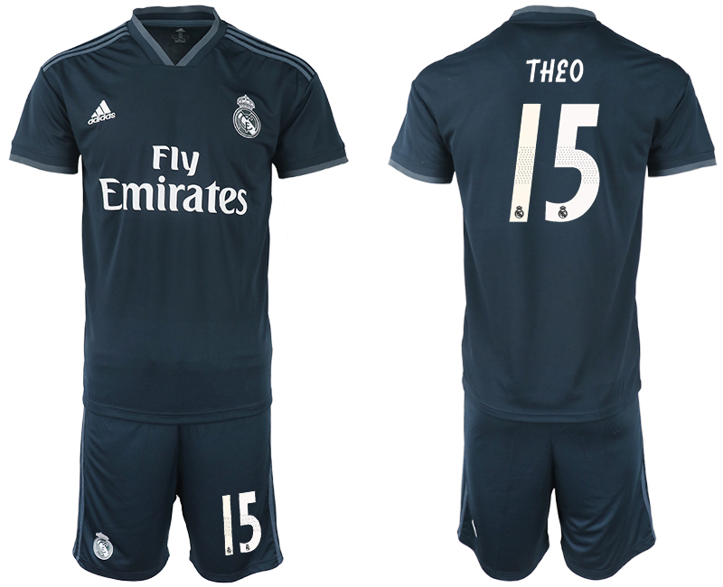 Men 2018-2019 club Real Madrid away 15 blue soccer jerseys