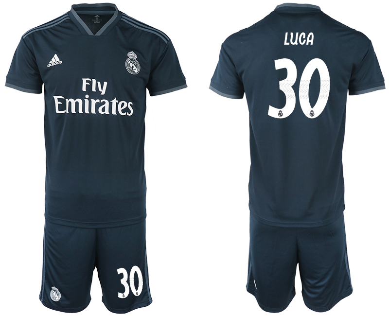 Men 2018-2019 club Real Madrid away 30 blue soccer jerseys