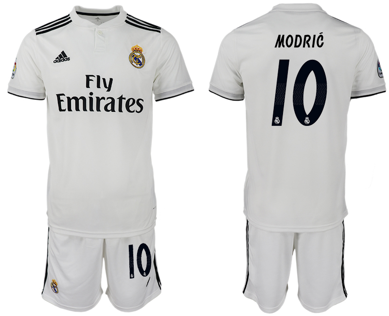 Men 2018-2019 club Real Madrid home 10 white soccer jersey