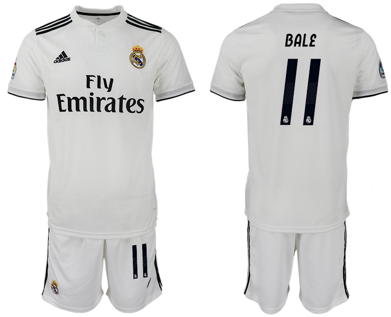 Men 2018-2019 club Real Madrid home 11 white soccer jersey