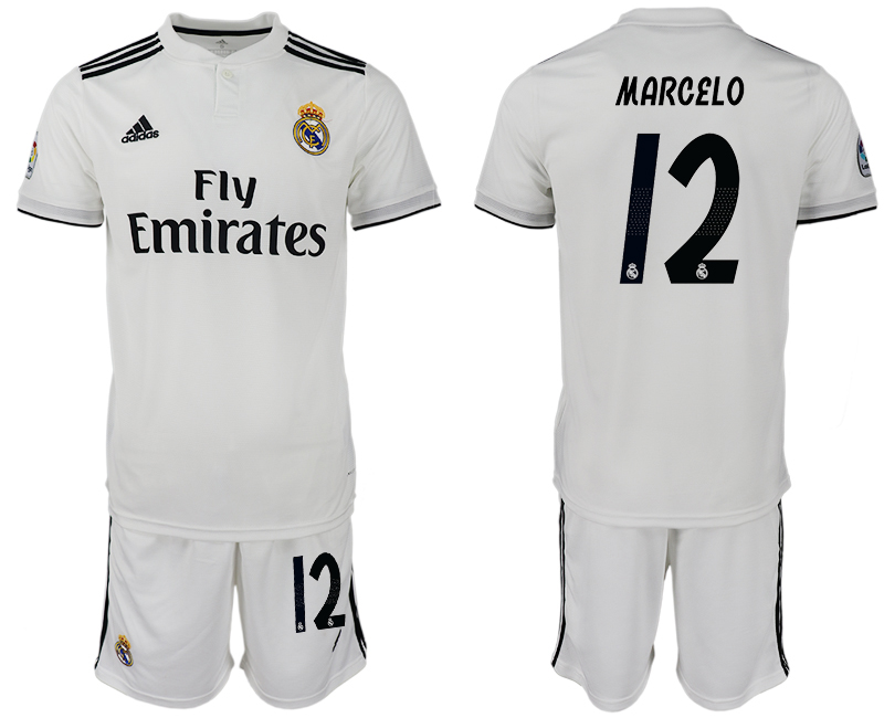 Men 2018-2019 club Real Madrid home 12 white soccer jersey