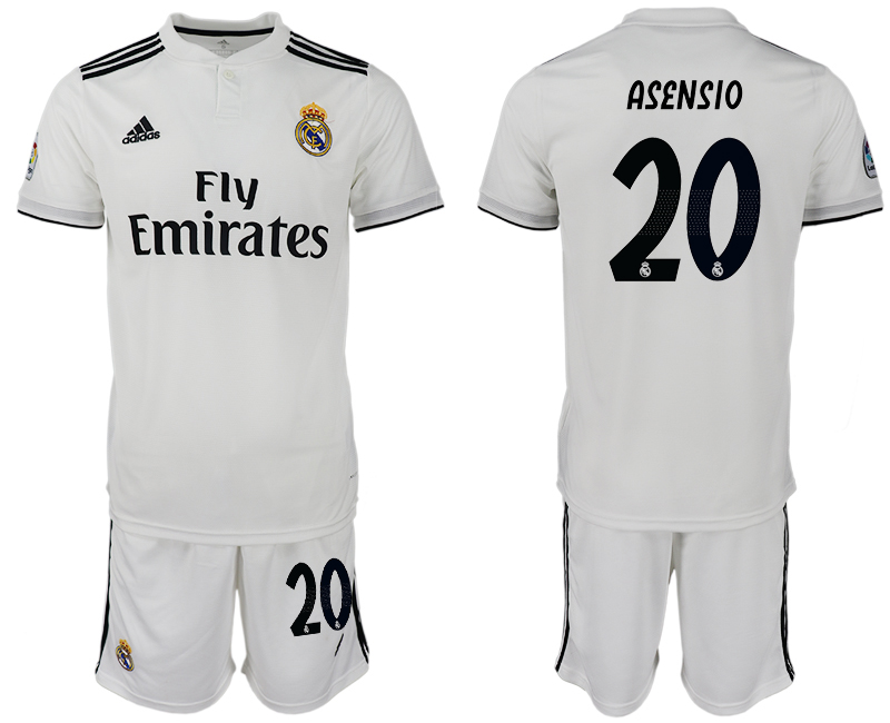 Men 2018-2019 club Real Madrid home 20 white soccer jersey