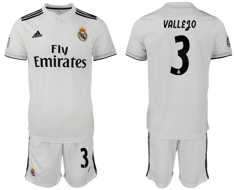 Men 2018-2019 club Real Madrid home 3 white soccer jersey
