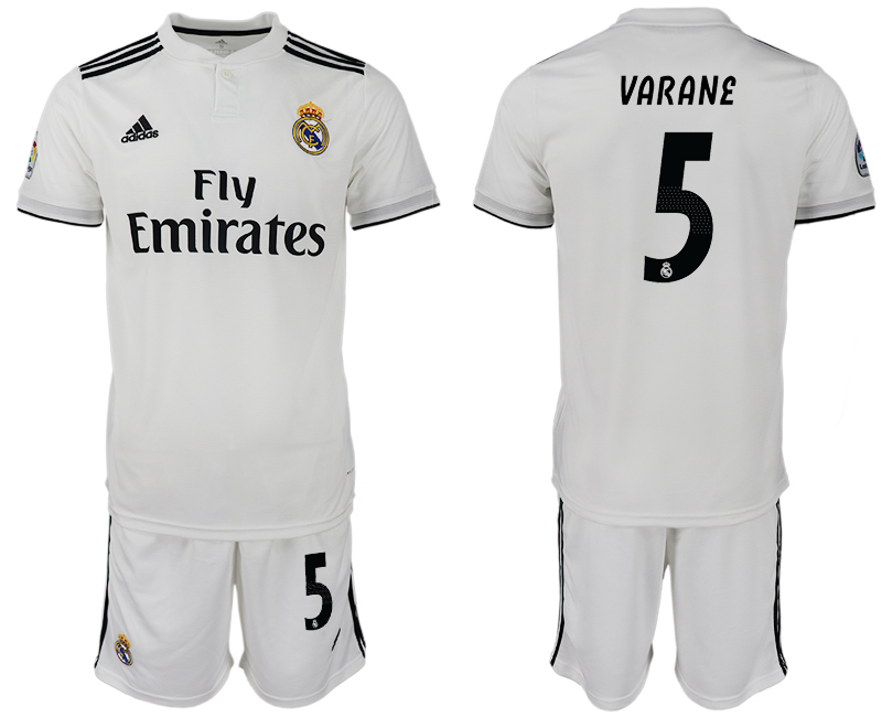 Men 2018-2019 club Real Madrid home 5 white soccer jersey1