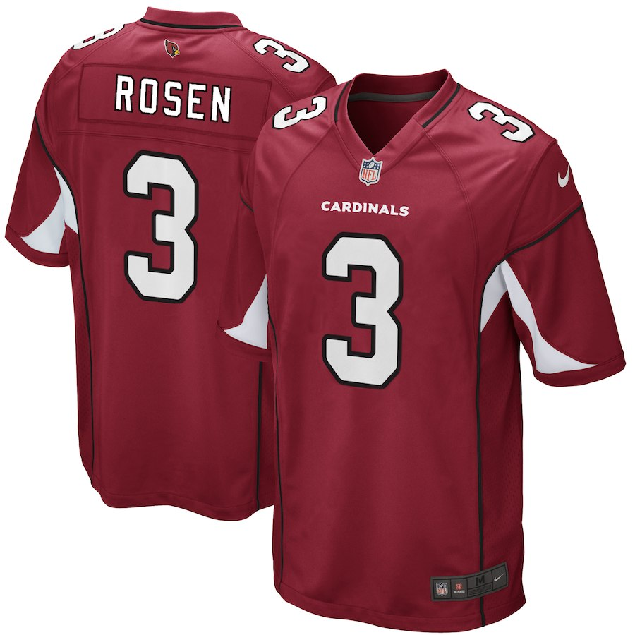 Men Arizona Cardinals 3 Josh Rosen Nike Cardinal 2018 NFL Draft Game red Jersey