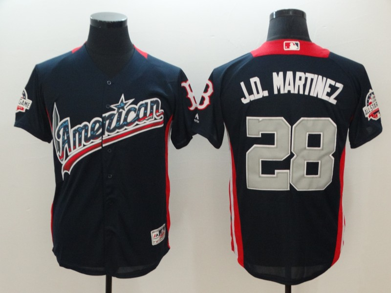 Men Boston Red Sox 28 J.D.Martinez Blue Game All star MLB Jerseys