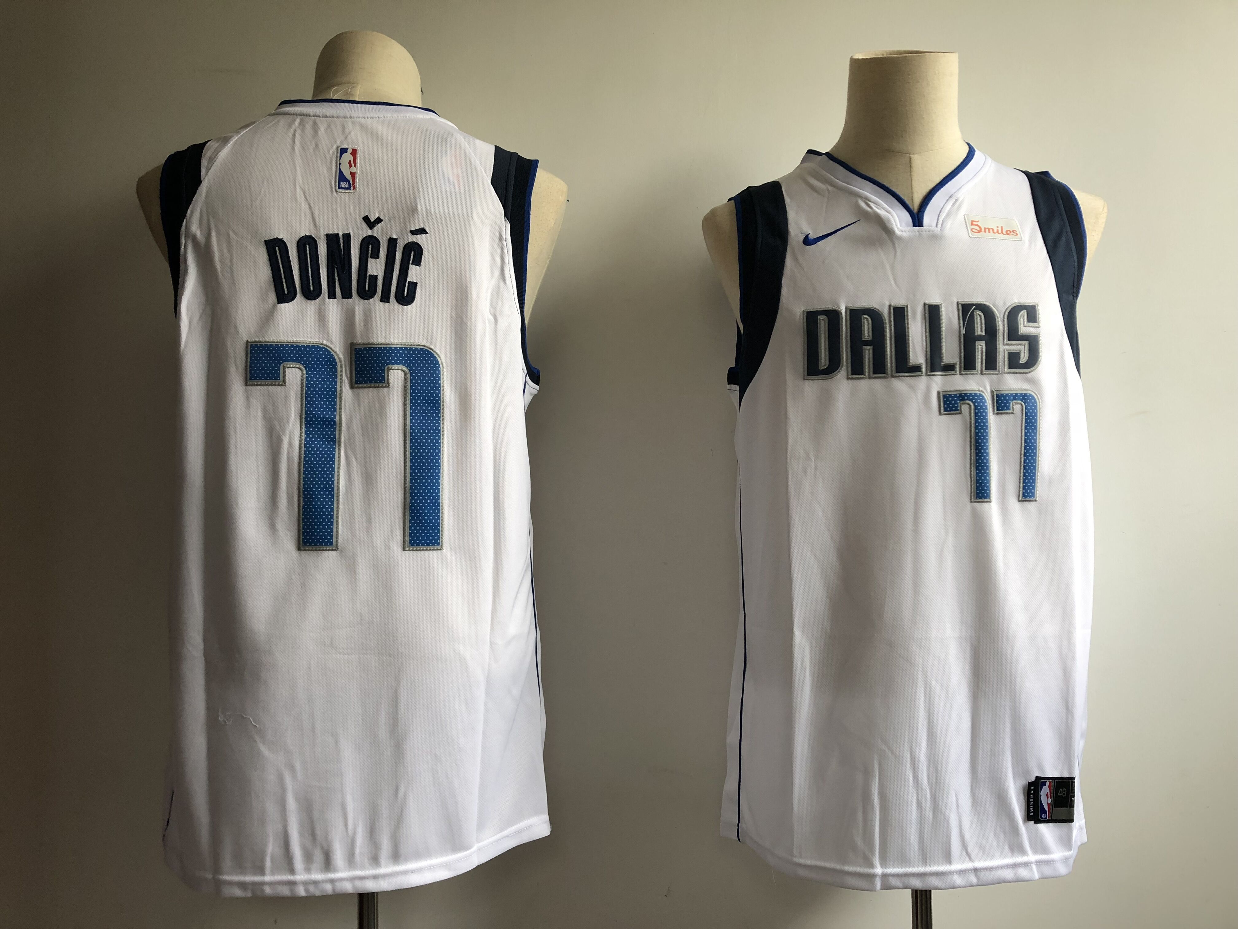 Men Dallas Mavericks 77 Doncic White Nike NBA Jerseys