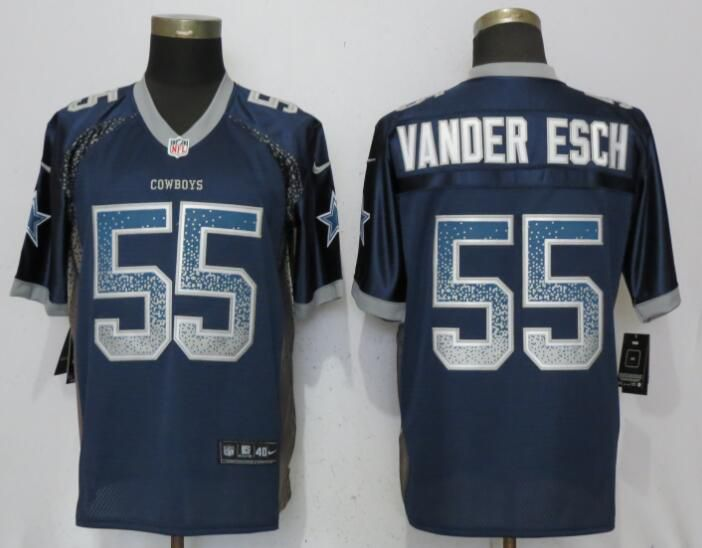 Men Dallas cowboys 55 Vander edch Drift Fashion Blue Nike Elite NFL Jerseys
